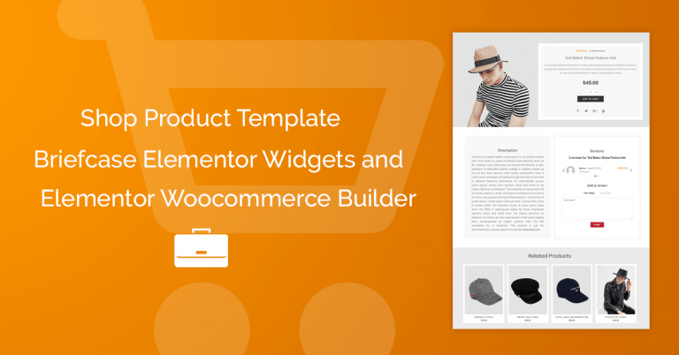 Create single product template with BriefcaseWP and Elementor Woocommerce Builder
