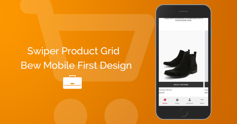How to create a swiper product grid for mobile view